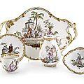A fine vienna porcelain déjeuner with chinoiserie, c. 1770.