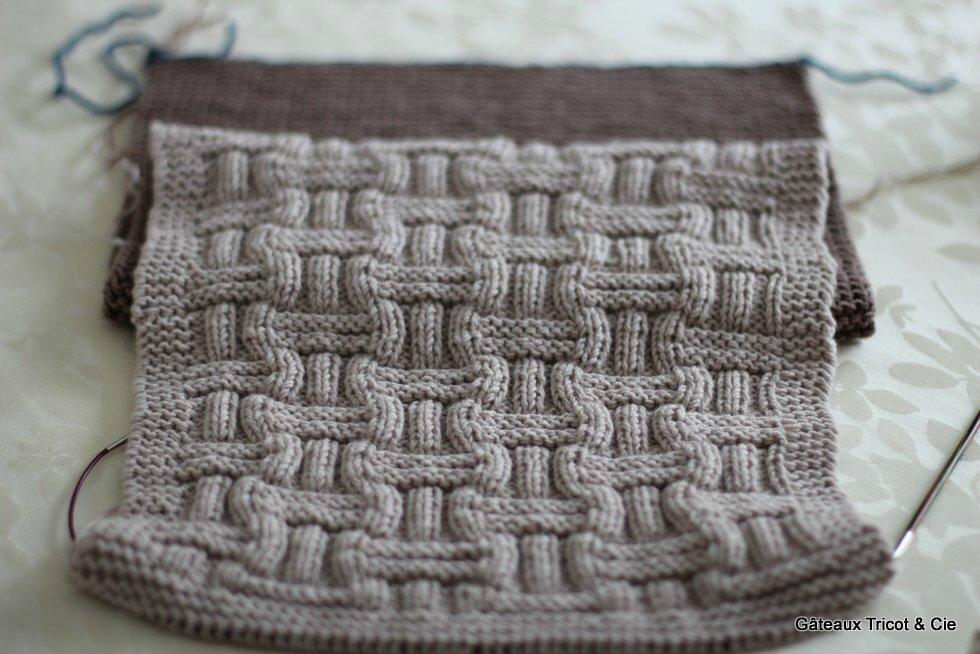 Chronique du plaid boucle d 39 or 1 g teaux tricot cie - Tricoter un plaid debutant ...