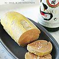 Foie gras vapeur au saké et au gingembre
