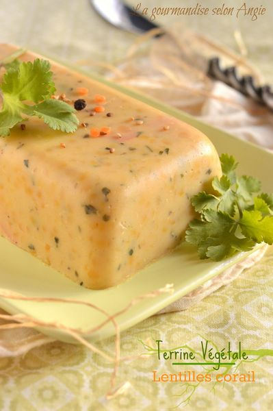 terrine végétale lentilles corail coco coriandre