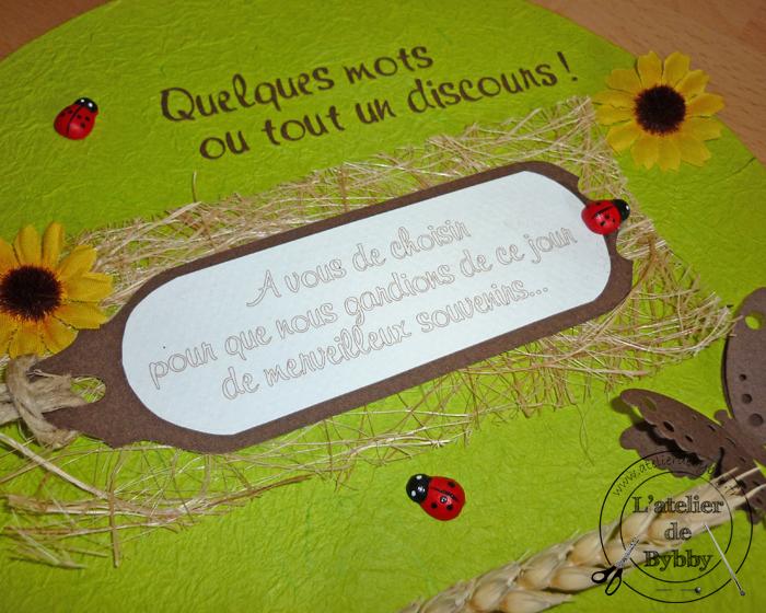 detail livre d'or champêtre