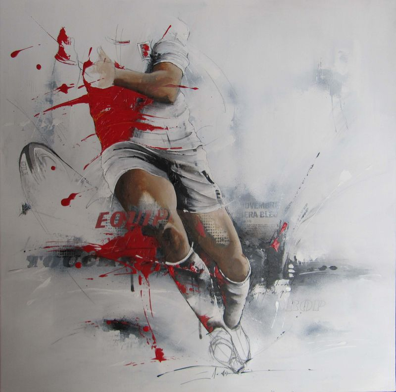 Tableaux rugby - Acrylique et techniques mixtes - karine BRAILLY (www.karinebrailly.com ...