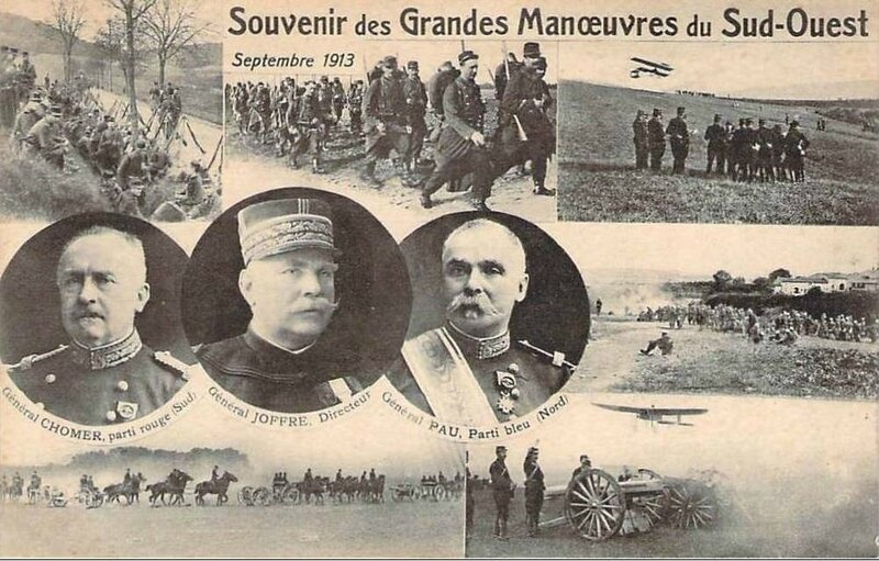 CPA Grandes manoeuvres 1913