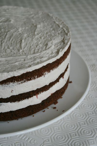 layer cake chocolat et fraise u gateau  tages Minouchka 1
