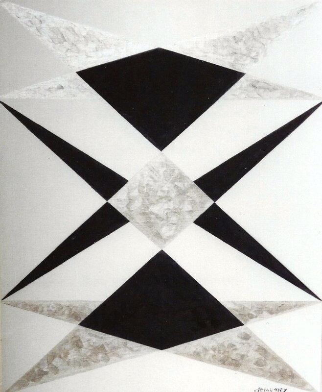 Art conceptuel blackstar huile sur toile 73x60 for Art minimal et conceptuel