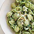 Orecchiette aux pesto de feuilles de brocolis