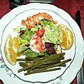 Salade de homard aux agrumes...