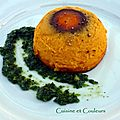 Flan de carottes, Condiment  la coriandre et au citron confit & son accord mets/vin