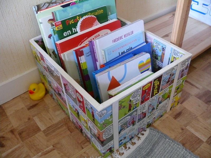 boite livres photo de bricolage d co le petit. Black Bedroom Furniture Sets. Home Design Ideas