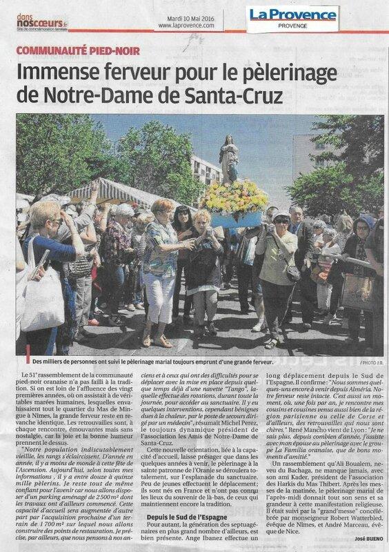 Santa Cruz- Pèlerinage Nîmes La Provence 2016 JB
