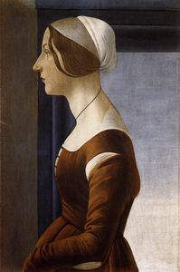 1475 Sandro BOTTICELLI, Portrait of a Young Woman