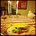 Millefeuille de parmesan aux tomates séchées