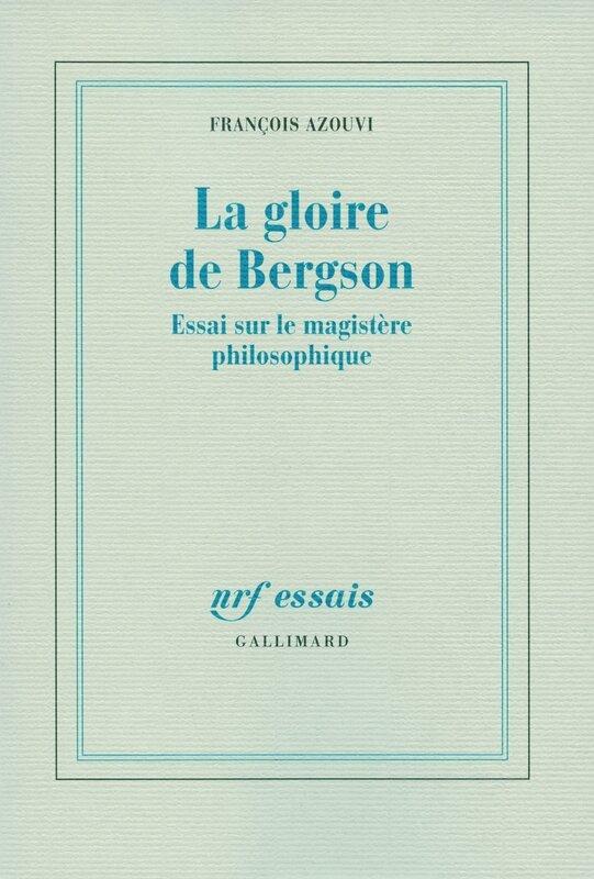 La gloire de Bergson par Azouvi couv