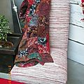 *PLaiD*patchwork*superbe couleur*doubl de coton rouge*45