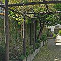 L'allée qui relie les deux accès du jardin.