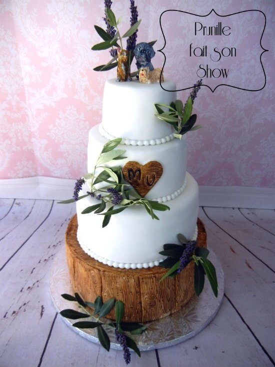 wedding cake nature lavande olivier bois prunillefee 6