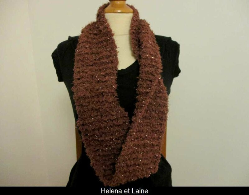 Snood marron