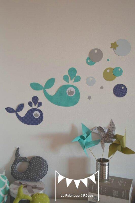 ophreycom chambre bebe bleu turquoise vert anis