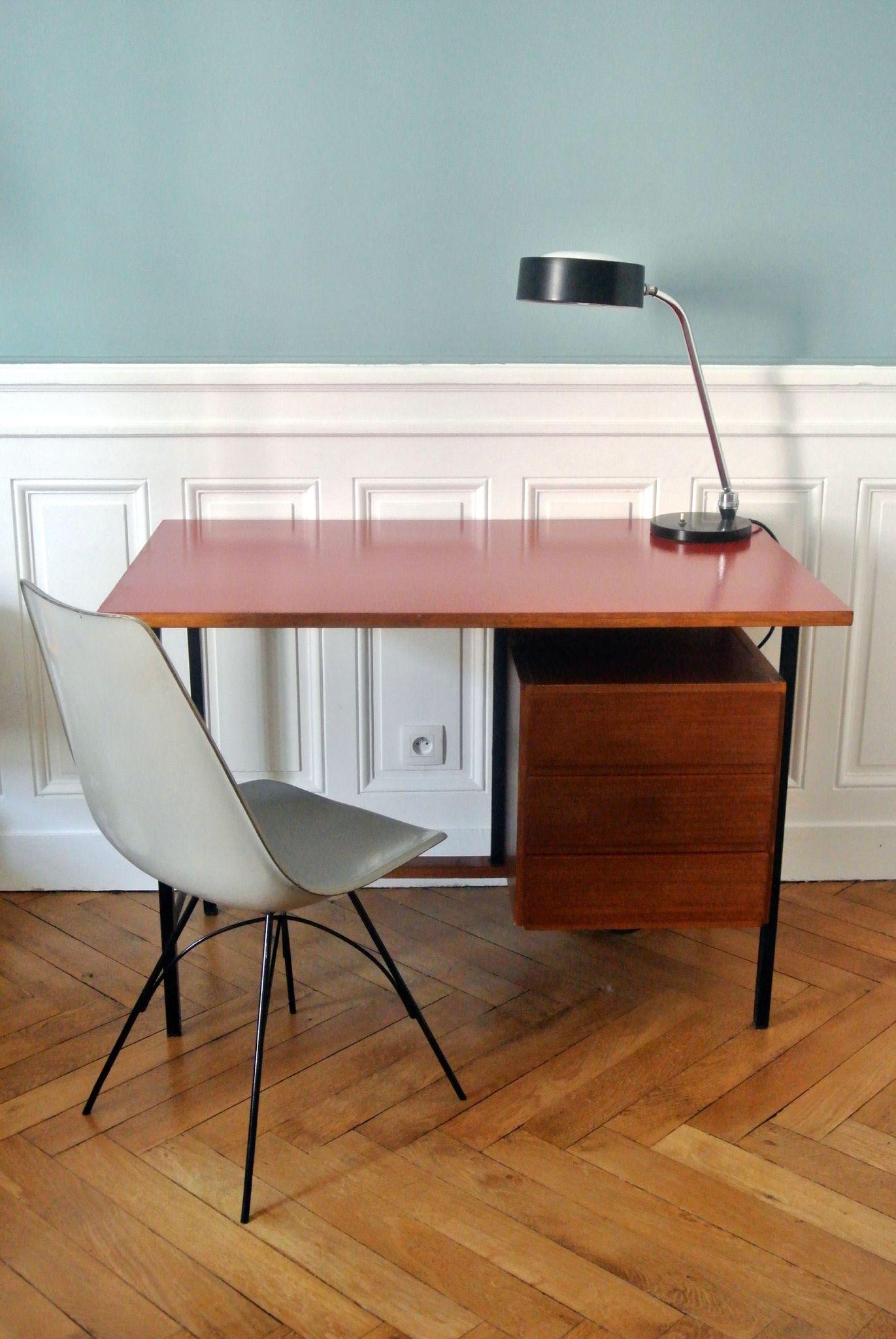 bureau moderniste ann es 60 solveig vintage kids. Black Bedroom Furniture Sets. Home Design Ideas