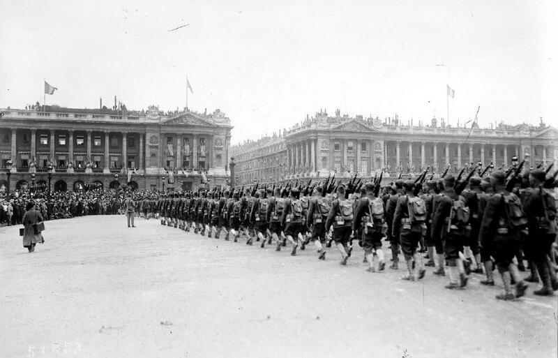 Indépendance Day Place de la Concorde 1918