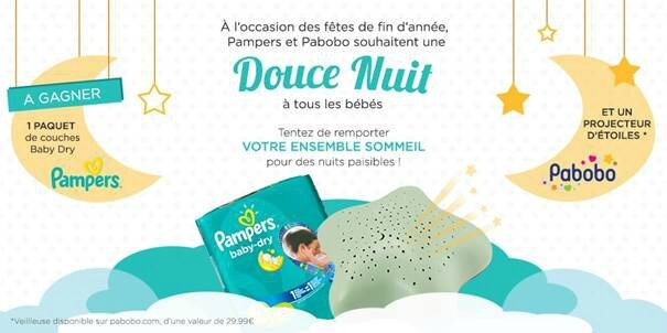 jeu concours pampers pabobo