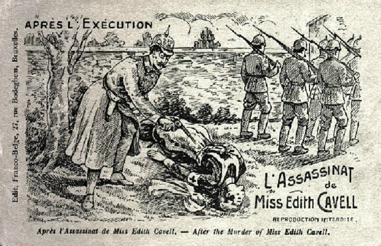CPA Caricature Edith Cavell Coup final