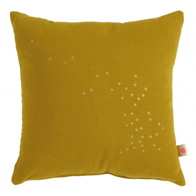 coussin 28 moutarde