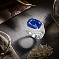 An impressive sapphire and diamond ring, bulgari