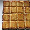 Gâteau de semoule au miel et à la fleur d'oranger de doro.