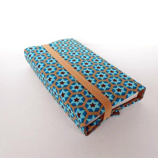 Pochette livres étoiles bleu choco