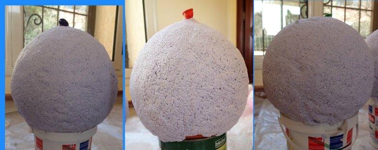 Une suspension pour la cage d escalier l 39 atelier de mumy l 39 oie - Fabriquer abat jour papier ...