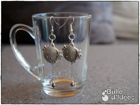 Boucles d'oreilles Chat Kitty #1