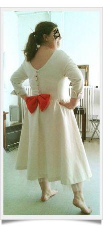 Robe de mariée vintage dos-framed