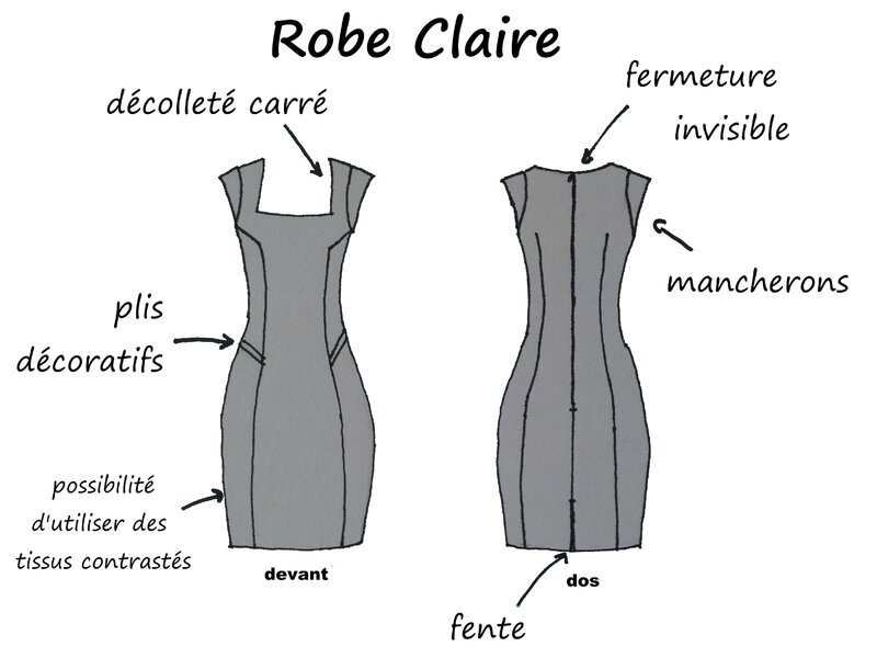 Dessin technique - Robe Claire - Boutonperdu