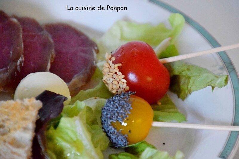 salade tomate cerise sésame pavot (7)