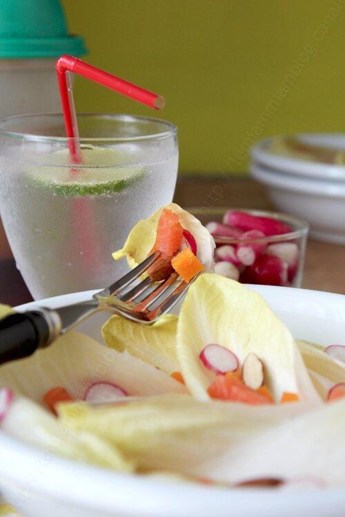 recette de salade d endive et truite fumee 0003 LE MIAM MIAM BLOG