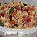 Salade de pâtes au thon.