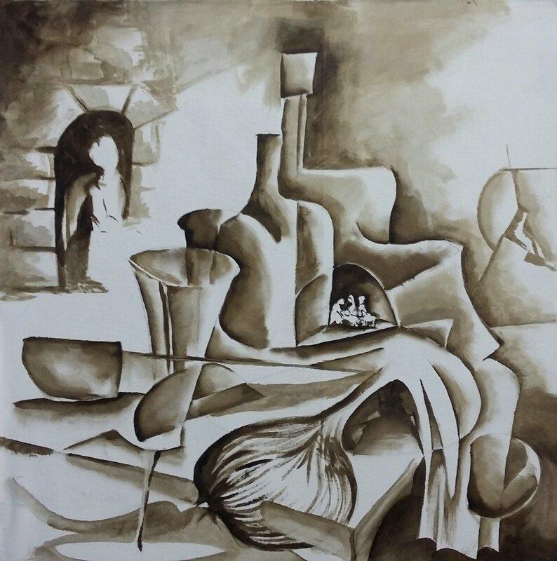 Nature morte de Cézanne revisitée avec nativité