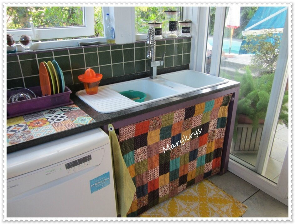 great rideau sous vier cui with rideau sous evier cuisine. Black Bedroom Furniture Sets. Home Design Ideas