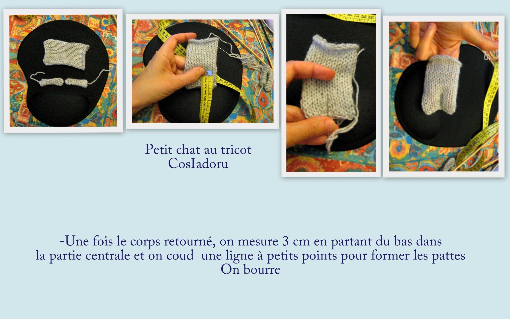 comment tricoter un petit chat