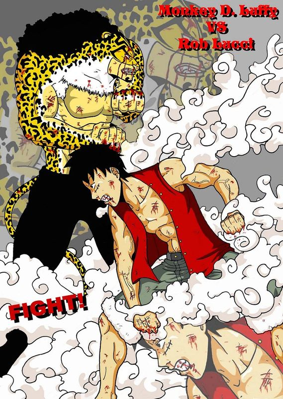 Monkey D. Luffy VS Rob Lucci (One Piece)