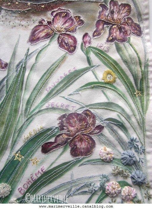 iris brodés jardin des contes marimerveille