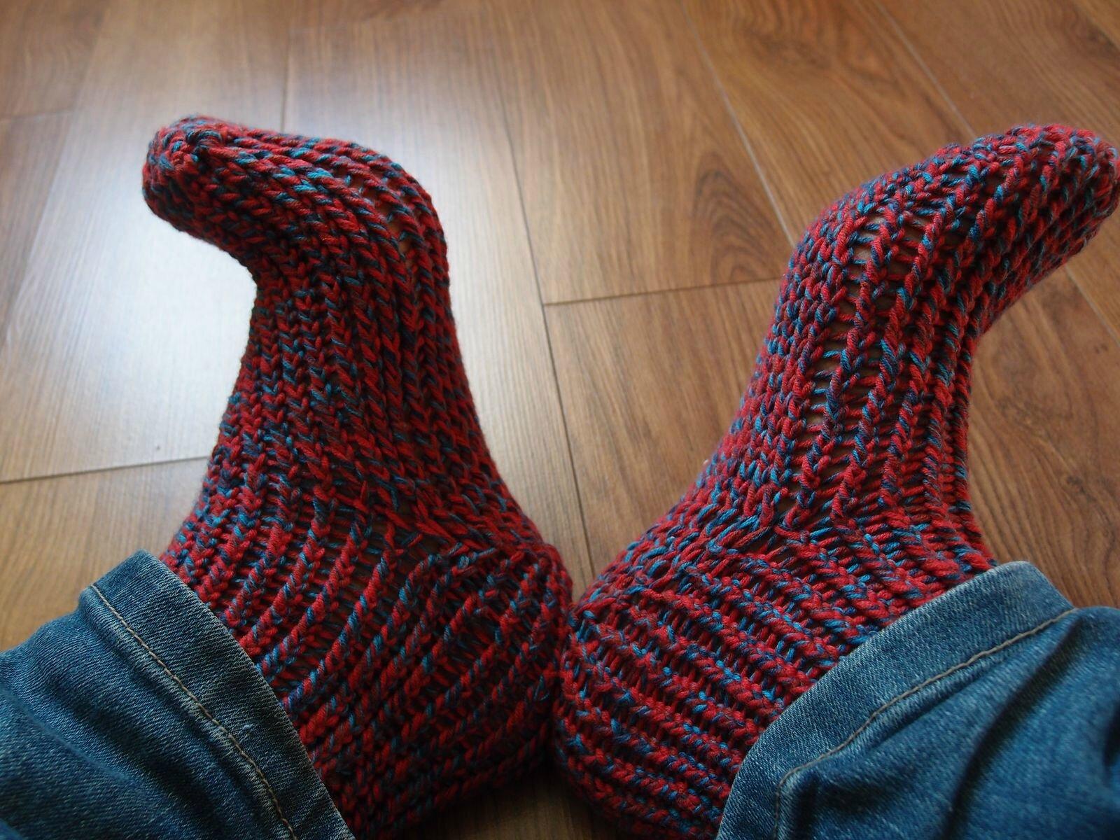 chaussettes tricotin le retour turlututu couture. Black Bedroom Furniture Sets. Home Design Ideas