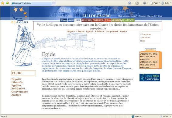 Athéna sur le site de EU-Logos