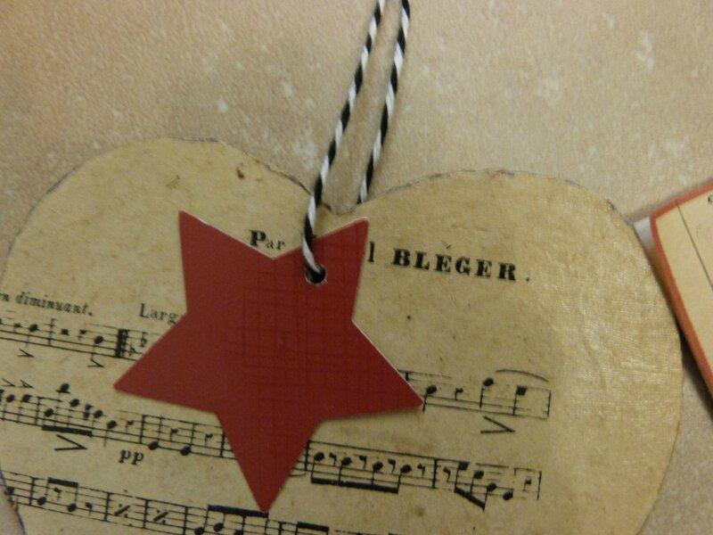 Coeur partition et Etiquette Noël - Espagne (3)