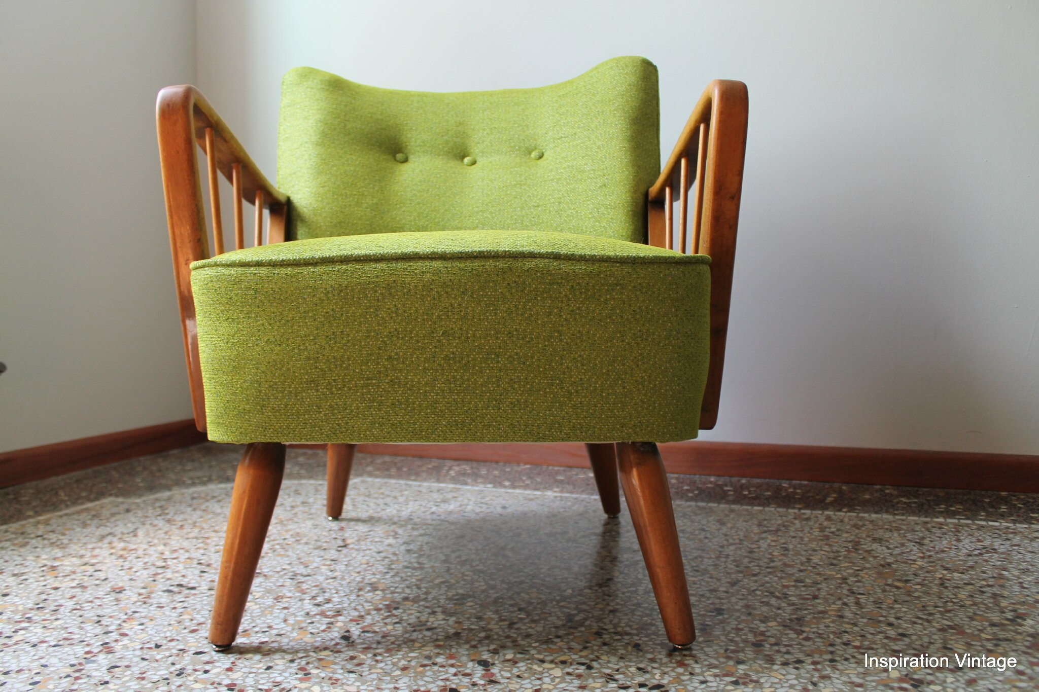 Fauteuil Cocktail 1950 Accoudoirs Rayons Inspiration Vintage