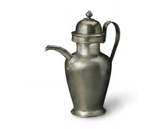 A large plain silver ovoid ewer and a cover, China, Tang dynasty (AD 618-907)