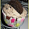 Cupcake aux oréos