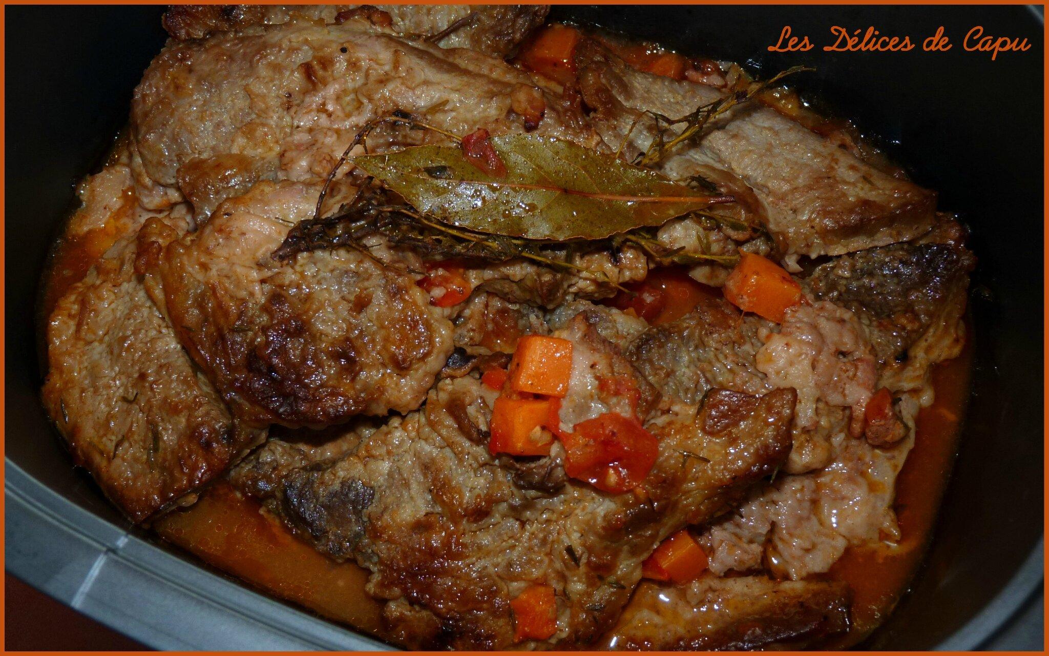 Tendrons de veau aux carottes les d lices de capu - Comment cuisiner le plat de cote de boeuf ...
