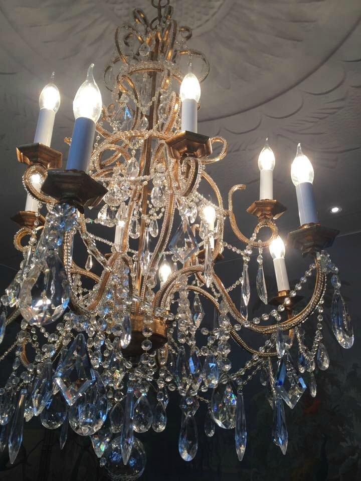 lustre baroque du show room barrisol cr ation artisanale. Black Bedroom Furniture Sets. Home Design Ideas